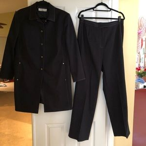 Tahari black pants suit.